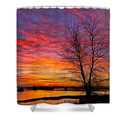 Sunrise In The Sacramento Valley Shower Curtain