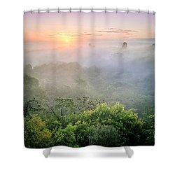Sunrise In Tikal Shower Curtain