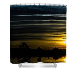 Shower Curtain featuring the photograph Sunrise In Virginia by Angela DeFrias