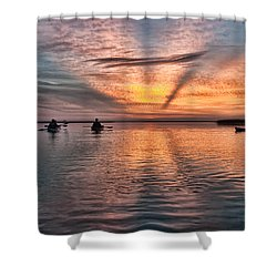 Sunrise Kayaking Shower Curtain