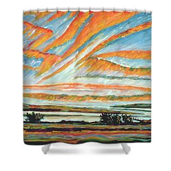 Sunrise Les Eboulements Quebec Shower Curtain by Patricia Eyre