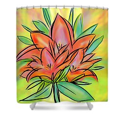 Sunrise Lily Shower Curtain by Christine Fournier