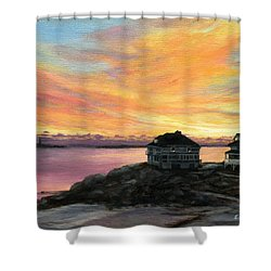 Sunrise Long Beach Rockport Ma Shower Curtain