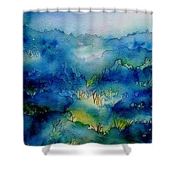 Sunrise Misty Woodland  Shower Curtain