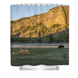 Sunrise Mt. Hayes Yellowstone National Park Shower Curtain