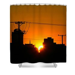 Sunrise -- My Columbia Seen Shower Curtain