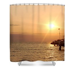 Sunrise Ocean Shower Curtain by Michal Bednarek