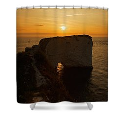 Sunrise Old Harry Rocks Shower Curtain