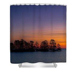 Sunrise On Lake Mattamuskeet Shower Curtain