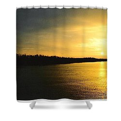 Shower Curtain featuring the photograph Sunrise On Ole Man River by Michael Hoard