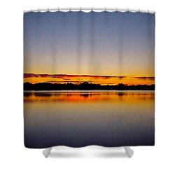 Sunrise On Riviere Des Mille-iles Shower Curtain by Juergen Weiss