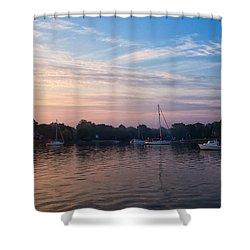 Sunrise On St. Michaels Md Harbor Shower Curtain