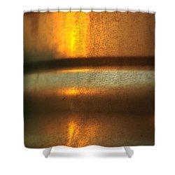 Sunrise On Steel Shower Curtain by Rebecca Sherman