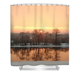 Sunrise On The Ema River Shower Curtain