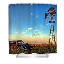 Shower Curtain featuring the photograph Sunrise On The Farm by Ken Smith