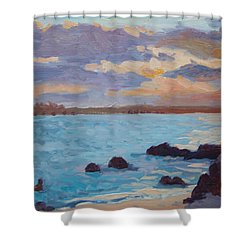 Sunrise On The Grotto Shower Curtain by Dianne Panarelli Miller