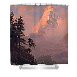 Sunrise On The Matterhorn Shower Curtain