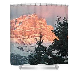 Shower Curtain featuring the photograph Sunrise On The Mountain by Ann E Robson