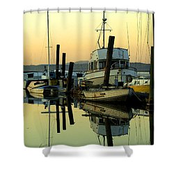 Sunrise On The Petaluma River Shower Curtain by Bill Gallagher