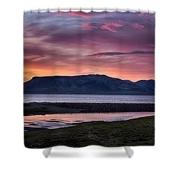 Sunrise On The Snaefellsnes Peninsula In Iceland Shower Curtain