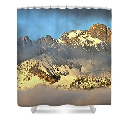 Sunrise On Thompson Peak Shower Curtain
