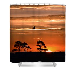 Sunrise Over Fenwick Island Shower Curtain