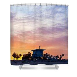 Sunrise Over Venice Beach Shower Curtain