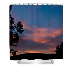 Sunrise Over Mammoth Campground Shower Curtain