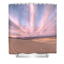 Sunrise Over Sand Dunes Shower Curtain by Juli Scalzi