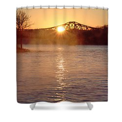 Sunrise Over Table Rock Shower Curtain