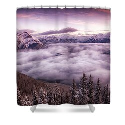 Sunrise Over The Canadian Rockies Shower Curtain