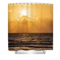 Sunrise Over The Caribbean Sea Shower Curtain