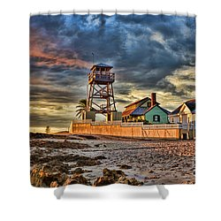 Sunrise Over The House Of Refuge On Hutchinson Island Shower Curtain