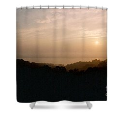 Sunrise Over The Illinois River Valley Shower Curtain