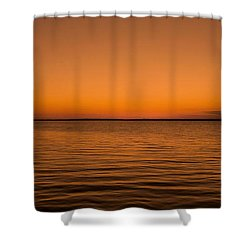 Sunrise Over The Lake Of Two Mountains - Qc Shower Curtain by Juergen Weiss
