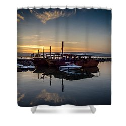 Sunrise Over The Sea Of Galilee Shower Curtain