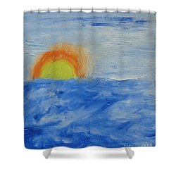 Shower Curtain featuring the painting Sunrise by PainterArtist FINs daughter