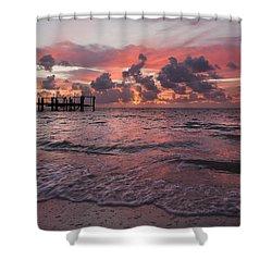 Sunrise Panoramic Shower Curtain by Adam Romanowicz