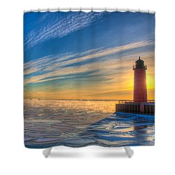 Sunrise Pierhead Shower Curtain
