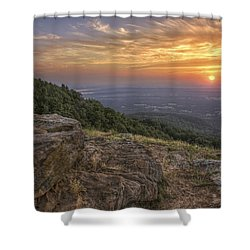 Sunrise Point From Mt. Nebo - Arkansas Shower Curtain