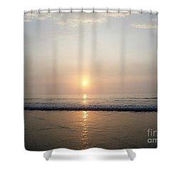 Sunrise Reflection Shines Upon The Atlantic Shower Curtain