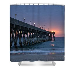 Sunrise Reflections Shower Curtain by Bob Sample