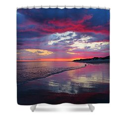 Shower Curtain featuring the photograph Sunrise Sizzle by Dianne Cowen