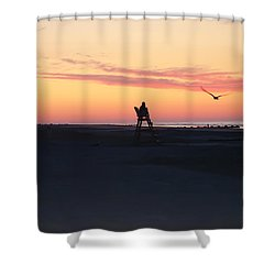 Sunrise Solitude Shower Curtain by Bill Cannon