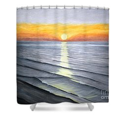 Shower Curtain featuring the painting Sunrise by Stacy C Bottoms