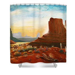 Sunrise Stampede Shower Curtain