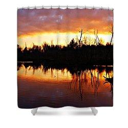 Sunrise Thanksgiving Morning Shower Curtain by Joe Faherty