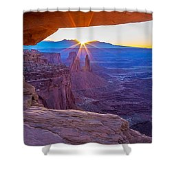 Sunrise Through Mesa Arch Shower Curtain
