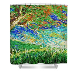 The War Of Wind And Sun Shower Curtain