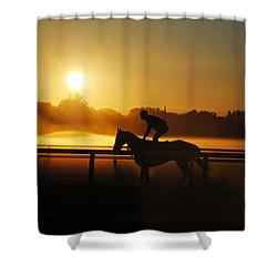 Sunrise Workout Shower Curtain